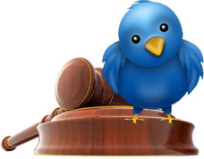 Gavel and bird